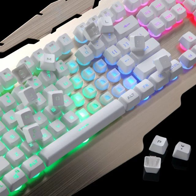 Metal panels backlit gaming keyboard BK049