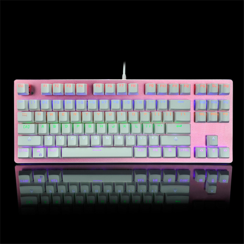 LED color mixing mechanical keyboard